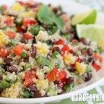 Mango Quinoa Salad. My aunt made this salad for a family bbq and it was SO good. And SO healthly. MUST make a big batch of this!