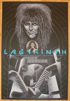"""2008 """"Labyrinth"""" - Silkscreen Movie Poster by Todd Slater"""