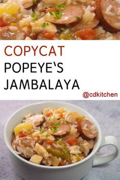 This Popeye's jambalaya is a jumble of savory flavors. Chicken and andouille sausage with celery, onion, bell and pepper. Add in some rice and a whole lot of spices, then you're cooking! Popeyes Copycat Recipe, Jumbalaya Recipe, Chicken Jambalaya, Copykat Recipes, Cajun Recipes, Chicken Recipes, Cooking Recipes, Donut Recipes, Recipes