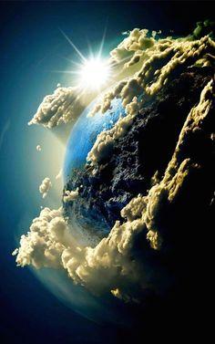 Earth Sunrise #Smartphone #Wallpaper ~ #nature #technology #ITRTG #SNRTG #Integridad #Pinterest