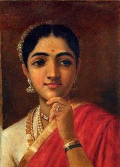 Four Portraits Studies Woman 2 by Raja Ravi Varma | Buy Posters, Frames, Canvas & Digital Art Prints