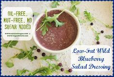 Low-Fat Wild Blueberry Salad Dressing (oil-free, nut-free, no sugar added) | Carrie on Vegan
