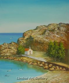 St. Pauls Bay Lindos Portrait Painting