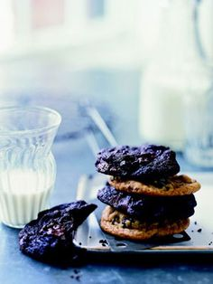 Try this Chocolate Chunk and Cherry Cookies. Substitute dried figs, cranberries, or apricots in place of the cherries for a super sophisticated cookie.