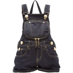 Moschino Denim Backpack ($370) ❤ liked on Polyvore