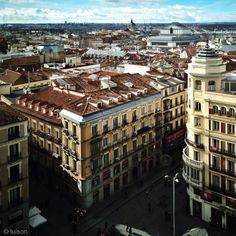 Roofs of Madrid Centre.