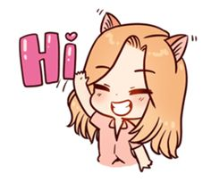 Daily lives of Little Kitten Cutest in the Galaxy Korean Stickers, Anime Stickers, Cute Stickers, Chibi Kawaii, Anime Chibi, Kawaii Anime, Little Kittens, Kittens Cutest, Drawing Meme
