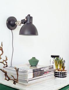 Industriele wandlamp Bronq Dominique Grijs