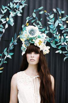 Fashion and flower wedding ideas | Dress by Elizabeth Dye | Photo by Belathée Photography | Read more http://www.100layercake.com/blog/?p=70...