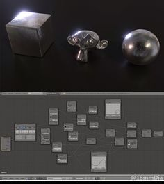 Just wanted to make some really nice metal materials so done some experiments an - Blender - Ideas of Blender - Just wanted to make some really nice metal materials so done some experiments and came with this setup. Blender 3d, Blender Models, 3d Design, Game Design, Blender Tutorial, Modelos 3d, Modeling Tips, 3d Tutorial, 3d Artwork