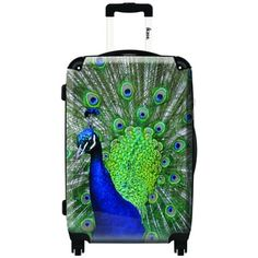 iKase Peacock,Carry-on 20-inch,Hardside, Spinner Suitcase
