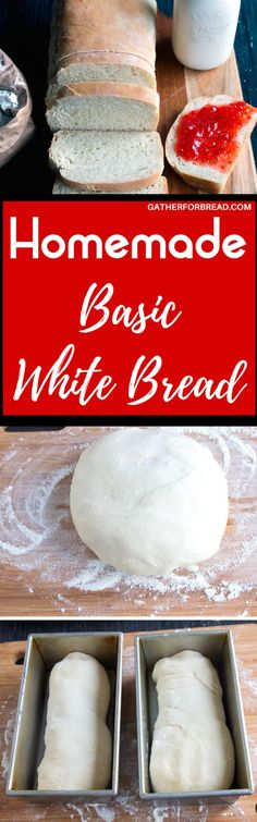 Basic Homemade White Bread - Simple and easy homemade white bread made with all purpose flour. This loaf is perfect for sandwiches, toast or to slather with jelly.