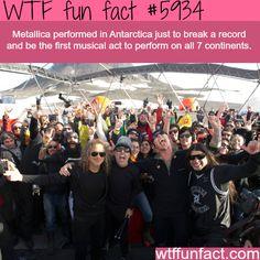Metallica performed in Antarctica - WTF fun facts