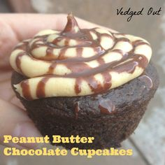 Peanut Butter Chocolate Cupcakes from Decadent Gluten-Free Vegan Baking. Recipe and Giveaway on Vedged Out