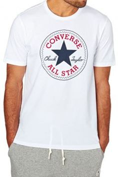Converse T-shirts - Converse Core Chuck Patch T-Shirt - White https: