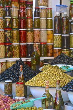 Olives anyone? Medina, Marrakech, Morocco