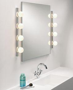 Cabaret looking mirror & lights combination