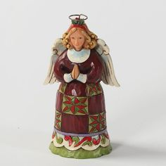 Enesco Jim Shore Heartwood Creek Mini Christmas Angel Figurine, 3-3/4-Inch *** Click image for more details.