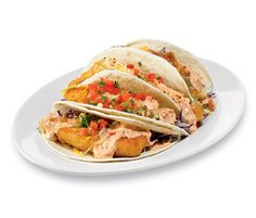 On the Border Dos XX Fish Tacos with Creamy Red Chile Sauce The cream sauce poured over fried fish edges this dish precariously close to your daily calorie limit. Indulge, and you may be saying hasta la vista to your waistline.  Calories: 1,950 Saturated Fat: 28 g Sodium: 3,540 mg