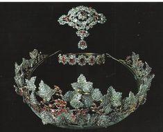 Diamond and ruby parure - Danish crown jewels