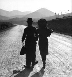 Charlie Chaplin and Paulette Goddard in Modern Times, 1936