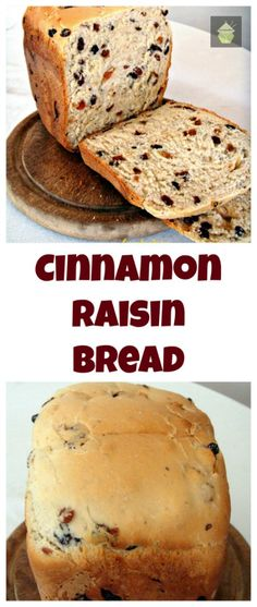 Cinnamon Raisin Bread. A nice easy bread to make, using your bread maker or oven. This is also great to make French Toast, YUMMY!