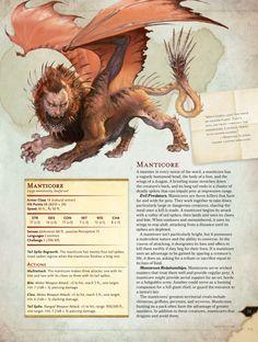 d&d monster manual 5e manticore