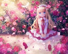 Image in anime girls collection by Angel on We Heart It Anime Chibi, Lolis Anime, Moe Anime, Chica Anime Manga, Anime Angel, Anime Girl Cute, Beautiful Anime Girl, Kawaii Anime Girl, Anime Art Girl