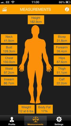 my size bmi and body measurement tracker on itunes .99