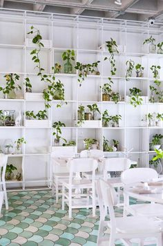 Vertical gardens soften the cool concrete aesthetics of a stirring gastronomic project in Saltillo, Mexico...