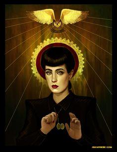 """Rachael by Jska Priebe, part of """"STELLAR: The Women of Science Fiction"""" http://www.jskapriebe.com/"""