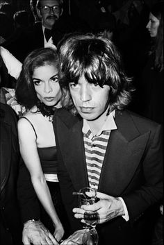 pinkfled: Mick and Bianca Jagger at Studio 54