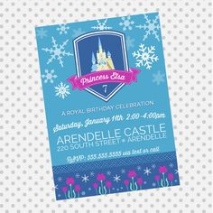 FROZEN Inspired Invitation - Frozen Party - Princess Elsa and Anna - FROZEN party supplies on Etsy, $13.62 CAD