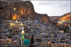 Maaloula, Syria....last place in the world they speak the language of Christ...Aramaic