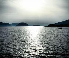 Sailing on the Aegean Sea  enjoying a romantic Mediterranean sunset  Sporades Islands Greece.