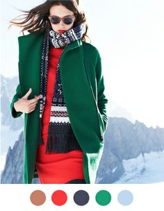 Great wintry palette!  From Color Collective - J. Crew via Kelly McCaleb.