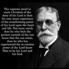B.B. Warfield - What does the Bible say about transformation? http://www.gotquestions.org/Bible-transformation.html