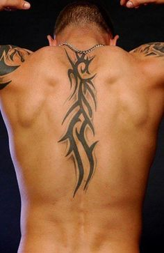 Back Tattoos For Guys Upper, Middle Of Back Tattoo, Small Back Tattoos, Cool Back Tattoos, Badass Tattoos, Eagle Back Tattoo, Tribal Back Tattoos, Tribal Tattoo Designs, Best Tattoo Designs