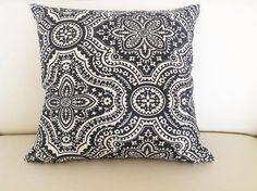 Bohemian Designer Cushion Covers Charcoal by IslandHomeEmporium
