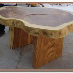 Cedar slice table