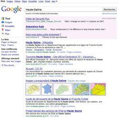 """Recherchons """"Haute-Saône"""" sur Google..."""