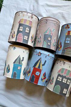 Metal Walls, Metal Wall Art, Tin Can Crafts, Arts And Crafts, Painted Tin Cans, Roman Clock, Tin Can Art, Pottery Painting Designs, Metal Clock
