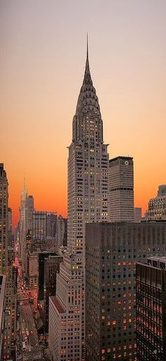 Chrysler Building, Manhattan, New York..@ Sunset