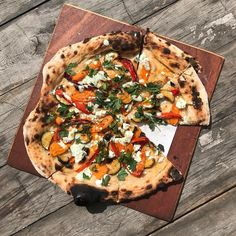Last special of our easter opening - No sauce spiced & roast butternut squash red peppers cougettes with feta tatziki and parsely. Open next weekend friday - monday  big parti on saturday night. See website for details.