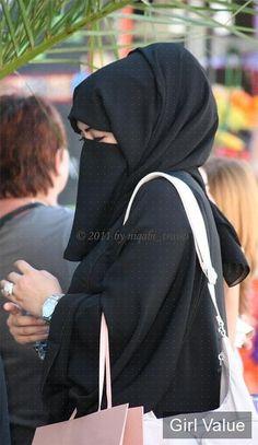Modern black niqab