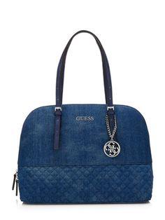 Delaney jeans satchel Bag | GUESS.eu