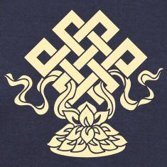 Eternal Knot, Endless, Lotus, Tibetan Buddhism, Long Sleeve Shirts