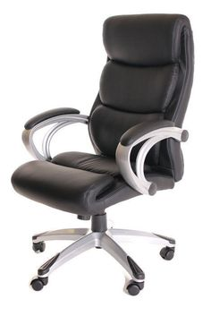 High Back Executive Leather Ergonomic Chair with Armrest-Black by TimeOffice Leather Dining Room Chairs, Accent Chairs For Living Room, Cool Office Desk, Tommy Bahama Beach Chair, Recycled Plastic Adirondack Chairs, Herman Miller Aeron Chair, Balcony Table And Chairs, Composite Adirondack Chairs, Executive Office Chairs