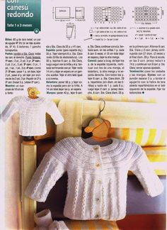 canesu redondo tejido a dos agujas - Buscar con Google Crochet Baby Sweater Pattern, Baby Sweater Patterns, Knitted Baby Cardigan, Baby Knitting Patterns, Knitting Designs, Baby Patterns, Baby L, Bebe Baby, Crochet For Boys