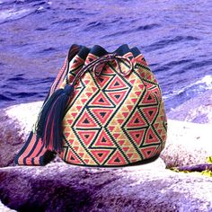 The Essential Vacay Mochila Bags Crochet Handbags, Crochet Purses, Crochet Bags, Mochila Crochet, Tapestry Crochet Patterns, Tapestry Bag, Boho Bags, Wholesale Bags, Knitted Bags